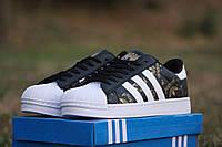 Кроссовки Adidas Superstar/ кроссовки Адидас Суперстар весна-осень, пресс кожа, очень стильные