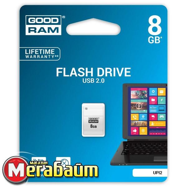 Flash Drive Goodram PICCOLO 8 GB White
