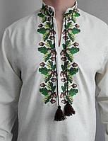 Мужская вышиванка лен Дубок