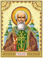 Схема для вышивки бисером Святой Сергий (Сергей)