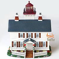 Фарфоровый домик с подсветкой Маяк