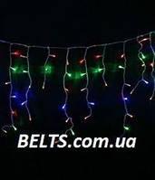 Гирлянда светодиодная разноцветная бахрома на 200 лампочек 3 метра