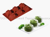 Силиконовая форма для десертов - Pavoni - FR052 - Розы
