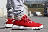 Мужские кроссовки Adidas Yeezy Boost/ кроссовки мужские Адидас Изи Буст весна-осень, красные, 2016-2017