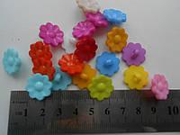 Пуговицы акриловые детские цветок