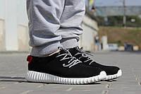Мужские кроссовки Adidas Yeezy Boost/ кроссовки мужские Адидас Изи Буст весна-осень, черно-белые, 2016-2017