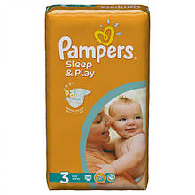 Подгузники Pampers Sleep & Play Польша  3 MIDI (4-9 КГ) 58 ШТ.