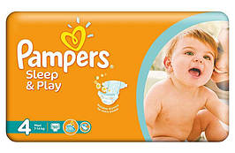 Подгузники Pampers Sleep & Play Польша  4 MAXI (7-14 КГ) 50 ШТ.