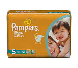 Подгузники Pampers Sleep & Play Польша  5 JUNIOR (11-18 КГ) 42 ШТ.