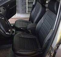 Авточехлы экокожа с двойной строчкой для Chevrolet Aveo 2012- г.