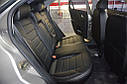 Авточехлы экокожа с двойной строчкой для Subaru (Субару), фото 3