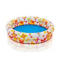 Детский надувной бассейн «Разноцветный круг» 59421 Intex, 122х25 см