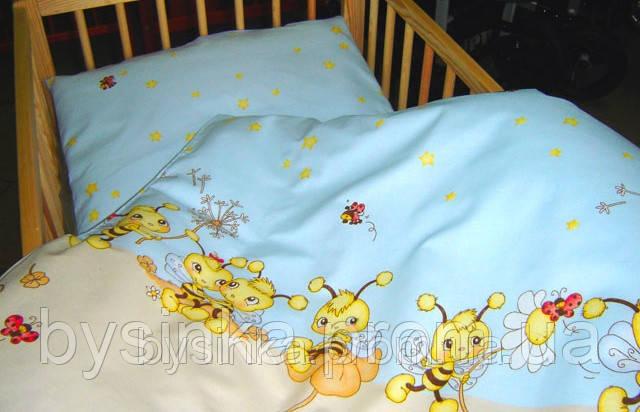 Детское постельное белье в кроватку из 3-ед- Пчелки