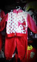 Теплый костюмчик для девочки до года