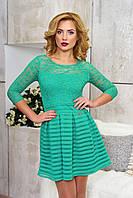 Короткое молодежное платье рукав три четверти