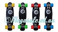 Скейт Penny Board (Пенни борд фиш) Fishskateboards: черный, до 80кг