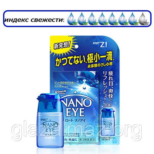 СНЯТО С ПРОИЗВОДСТВА Rohto Nano Eye синие - нанокапли