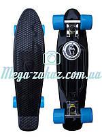 Скейтборд/скейт Penny Board (Пенни борд фиш) Fishskateboards: черный, до 80кг