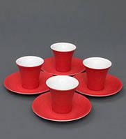 """Кофейный набор""""Колумбия для двоих"""" красная подарок женщине к 8 марта"""