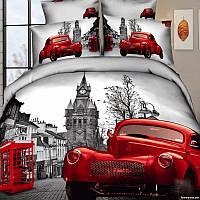 Комплект постельного белья 3d сатин Love you евро размер Лондон