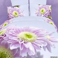 Комплект постельного белья 3d сатин Love you евро размер Нимфа