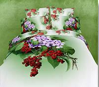Комплект постельного белья 3d сатин Love you евро размер Рябина