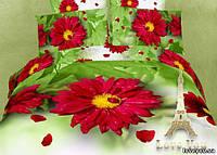 Комплект постельного белья 3d сатин Love you евро размер Селена