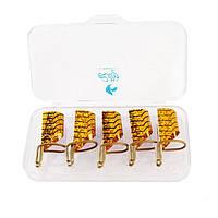 Формы многоразовые для наращивания ногтей Lilly, 5 шт., тефлоновые
