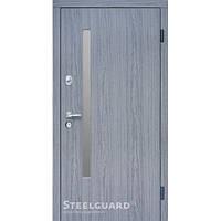 Двери входные металлические «АV-1 grey glass» Дуб вулкано  157 Серия «RESISTE»