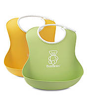 Мягкий нагрудник набор из 2-х шт.(Soft Bib, 2 pack Green/Yellow ) зеленый/желтый