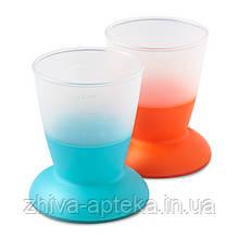 Набор з двух чашек Детский (Baby Cup 2-pack Orange/Turquoise) оранжевый и голубой