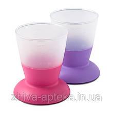 Набор з двух чашек Детский (Baby Cup 2-pack Pink/Purple) розовый и сиреневый
