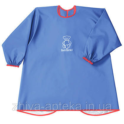 Рубашка Детская для игр и кормления(Eat and Play Smock), голубая
