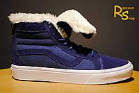 Зимние мужские кеды Vans Sk8 Hi Reissue Zip blue