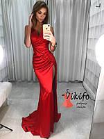 Шикарное длинное платье с разрезом Мод. 3412