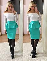 Красивое платье  на плечи , кружевной верх № 00782