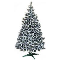 Сосна новогодняя искусственная с белыми кончиками 1.8 м.
