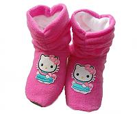 Тапочки Kitty розовые флис 8,5 см, 19,5см, 21см, 22,5см