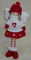 Текстильная игрушка-подарок Девочка-ангелочек красная