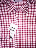 Мужская рубашка красная клетка 100% хлопок