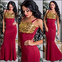 Платье - рыбка с пайетками № 0483 (цвета)