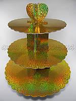 Стенд для маффинов голограмма (золото)