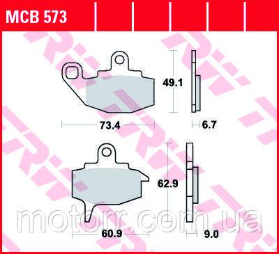 Тормозные колодки TRW / LUCAS MCB573