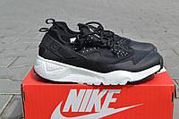 Мужские кроссовки Nike / кроссовки мужские  Найк весна-осень, пресс кожа, черного цвета