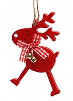Елочная игрушка деревянная Олень,новогодние украшение