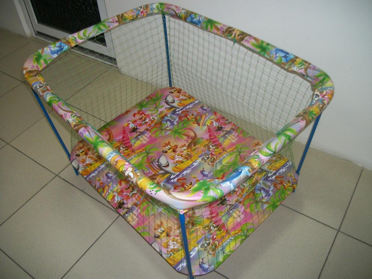 Манеж детский Kinder Box Мультик крупная сетка