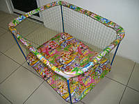 Манеж детский Kinder Box Мультик крупная сетка, фото 1