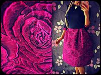 Платье Розы Юбка Колокол Турция Нарядное Платьице Брошка Качественное