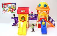 Домик 326-532 игровой центр с куколками, горками, в кор.