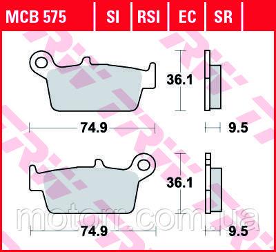 Тормозные колодки TRW / LUCAS MCB575
